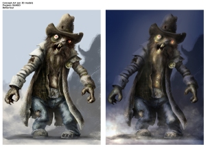 Sheriff Rat Zombie