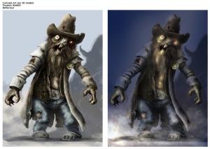 Sheriff Rat Zombie